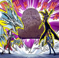 Kaiba and Dark Yugi continue the ancient battle