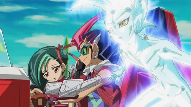 File:Tori, Yuma and Astral in the Duel Coaster.jpg