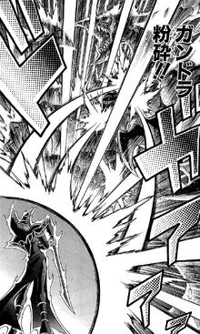 Mirror Force destroys Gandora