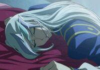 V sleeping