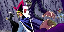 Yugi finds Dark Bakura and the thief