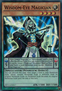 YuGiOh! TCG karta: Wisdom-Eye Magician