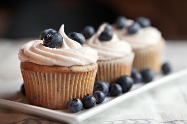Blueberry-cupcakes