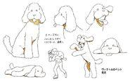 Makkachin character design