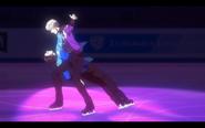Viktor and Yuuri on the ice 9