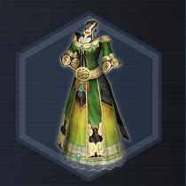 Green Weave Robe