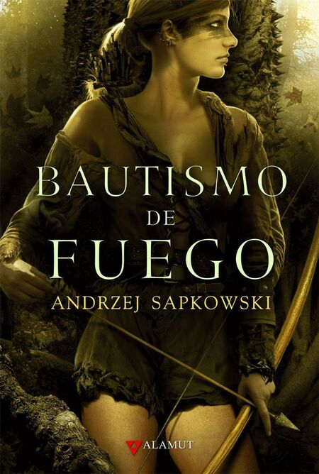 Milva na titulní straně španělského vydání Křestu ohněm