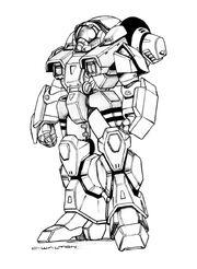 Robotech vr 011 rifleman cyclone battloid by chuckwalton-d95l822