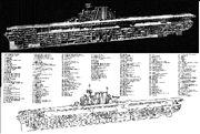 Yorktown-class carrier technical drawing 1953 (1)