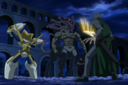 Pamoon and Shelby vs. Goren of the Stone (anime)