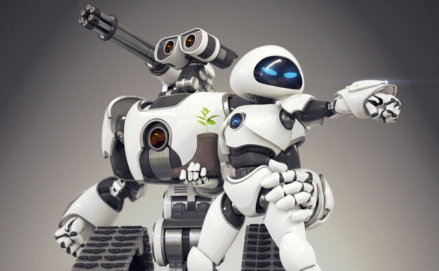 File:WALLE AND EVE BATTLE DROIDS.jpg
