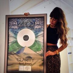 Foxes tweeted this photograph of herself holding a platinum disk for the single on 10 October 2013.