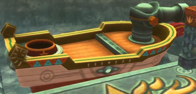 File:Skyward Sword Skipper's Motorboat (Timeshifted).png