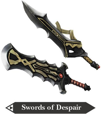 File:Hyrule Warriors Great Swords Swords of Despair (Render).png