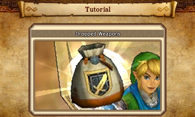 File:Hyrule Warriors Legends Tutorials Dropped Weapons (Tutorial Picture).png