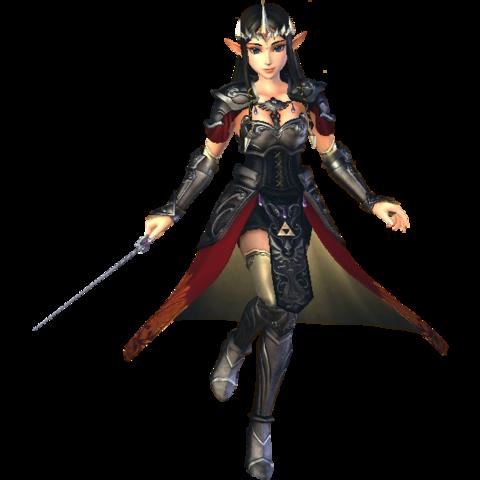 File:Hyrule Warriors Princess Zelda Standard Outfit (Boss - Argorok Recolor).png