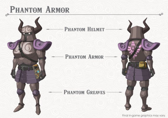 File:Breath of the Wild DLC Armor Phantom Armor Set (Phantom Helm, Phantom Armor, & Phantom Greaves).png