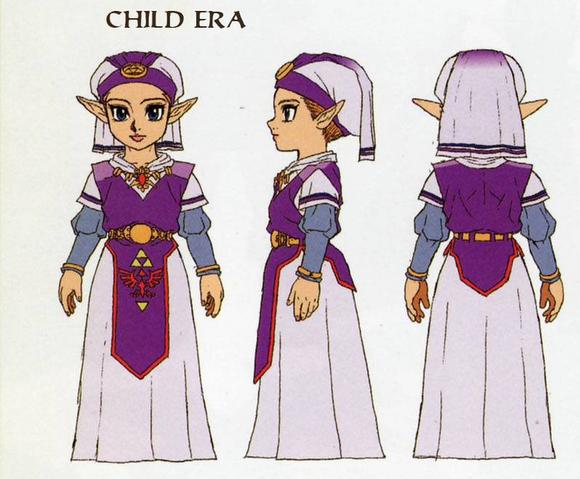 File:Ocarina of Time Artwork Princess Zelda - Child Era (Concept Art).png