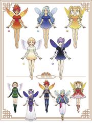Hyrule Warriors Legends My Fairy Companion Fairies (Artwork)