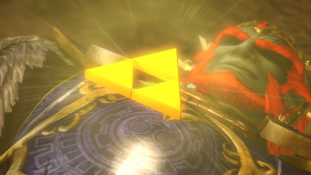 File:Hyrule Warriors Liberation of the Triforce The Triforce resurrecting Ganondorf (Cutscene).png