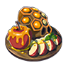 Breath of the Wild Food Dish (Honeyed) Honeyed Apple (Icon).png