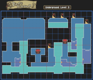 Pirate Hideaway Underground Level 3 Map With Chests