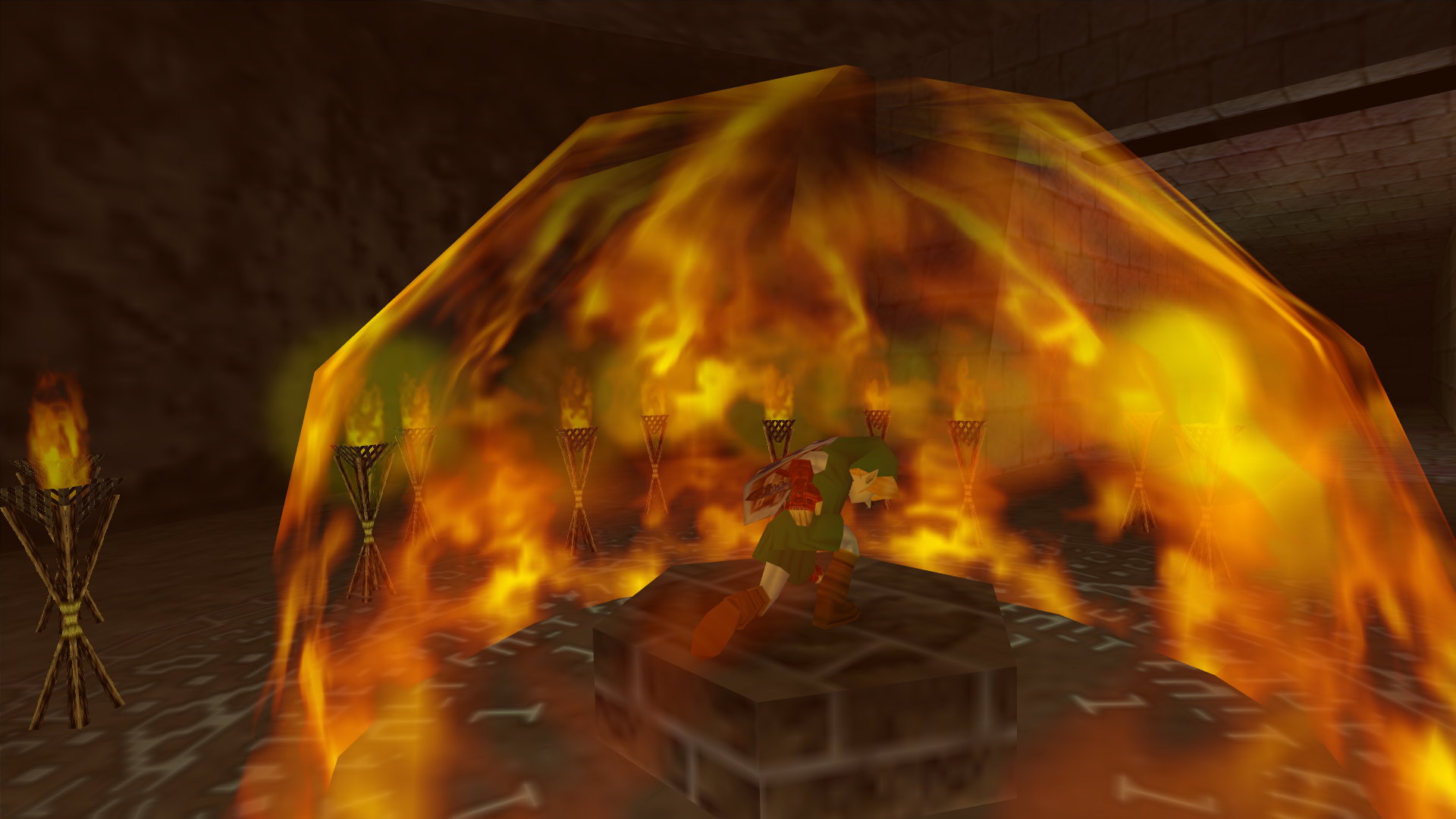 how to start a fire with flint in zelda