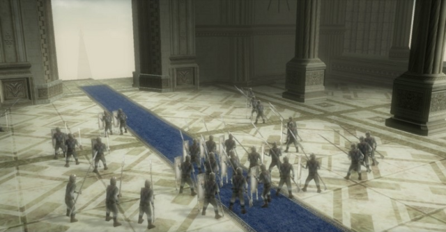 File:Twilight Princess HD Zant's Invasion Hyrulean Soldiers prepared to defend Hyrule Castle (Cutscene).png