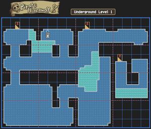 Pirate Hideaway Underground Level 1 Map