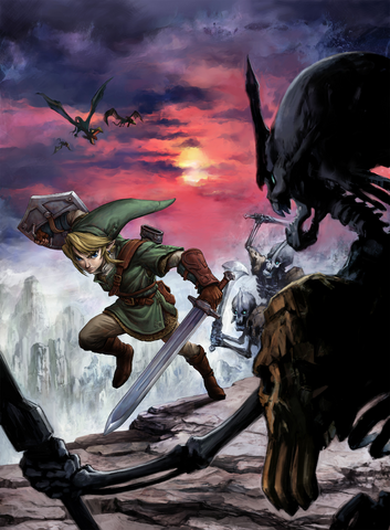 File:Link vs. Stalfos (Twilight Princess).png