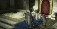 Twilight Princess HD Zant's Invasion Hyrulean Soldiers defending Princess Zelda (Cutscene)