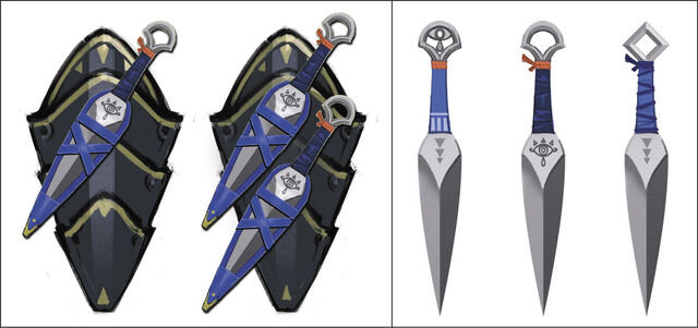File:Hyrule Warriors Artwork Sheik's Kunai (Concept Artwork).jpg