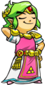 Tri Force Heroes Artwork Legendary Dress (Green Link).png