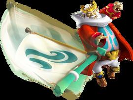 Hyrule Warriors Legends King Daphnes Nohansen Hyrule Sail (Render)