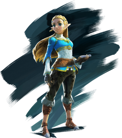 File:Zelda Artwork (Breath of the Wild).png