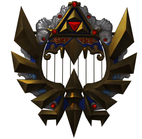 File:Hyrule Warriors Triforce Harp (Render).png