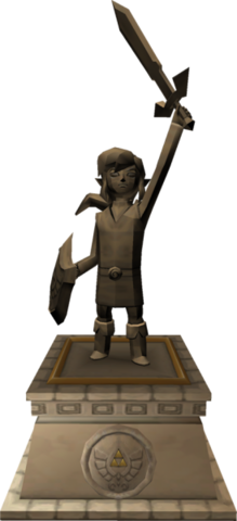 File:The Wind Waker Hyrule Castle Hero of Time Statue (Render).png