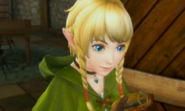 Hyrule Warriors Legends Linkle's Tale Linkle looking at her Compass (Cutscene)