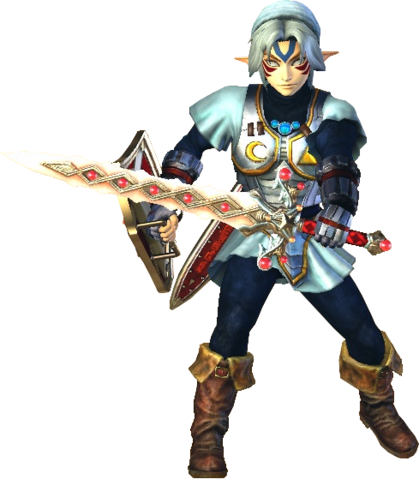 File:Hyrule Warriors Link Fierce Deity Costume (Majora's Mask DLC).png