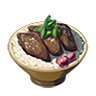 File:Breath of the Wild Food Dish (Meat & Rice Bowls) Meat and Rice Bowl (Icon).png