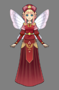 Hyrule Warriors Legends Fairy Clothing Red Princess Fairy Clothing Set (7-Eleven Collaberation DLC)