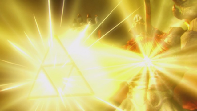 File:Hyrule Warriors Liberation of the Triforce Ganon defeated by the Power of the Triforce.png