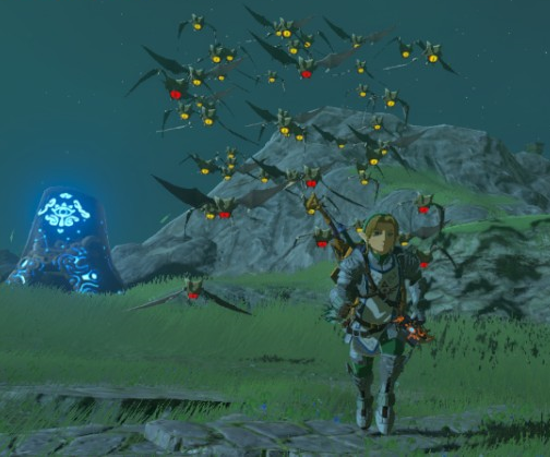File:Breath of the Wild Keese Keese Swarm (Hyrule Field).png
