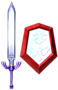 Master Sword and Mirror Shield (Soul Calibur II)