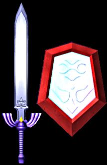 File:Master Sword and Mirror Shield (Soul Calibur II).png