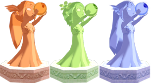 File:The Wind Waker Golden Goddess Statues Din, Farore, & Naryu (Render).png