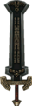 Twilight Princess Enemy Weapons Boss Darknut Sword (Tempel of Time Mini-Boss).png