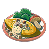 Breath of the Wild Food Dish (Omelets) Mushroom Omelet (Icon).png