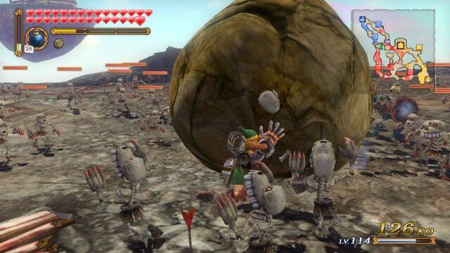File:Hyrule Warriors Classic Link Power Gauntlets Boulder Bulldozer (Boulder Regular Attack) WVW69iapvjEvKNMIsi.jpg