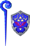 Cane of Byrna and Hylian Shield (Soul Calibur II)